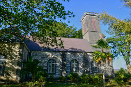 mauritius: Mauritius, the historical church of Pamplemousse Stock Photo