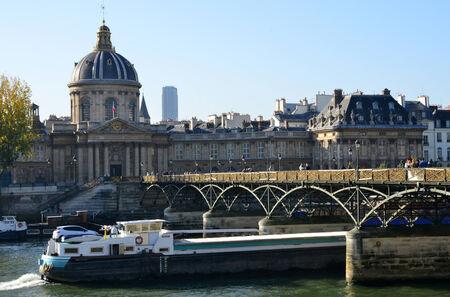 academie: France, the picturesque Pont des Arts and Academie Francaise in Paris