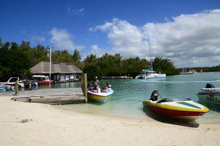 aux: Mauritius, the picturesque Ile aux cerfs in Mahebourg area Stock Photo