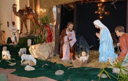 Ile de France, nativity scene in Triel sur Seine church photo
