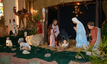 Ile de France, nativity scene in Triel sur Seine church photo