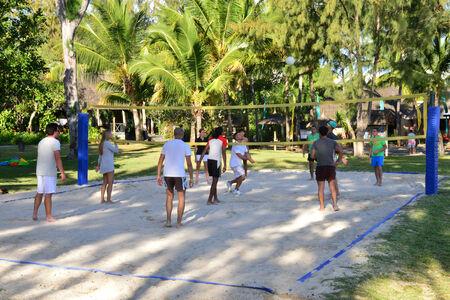 aux: Africa, the picturesque area of  La Pointe aux Canonniers in Mauritius Republic Editorial