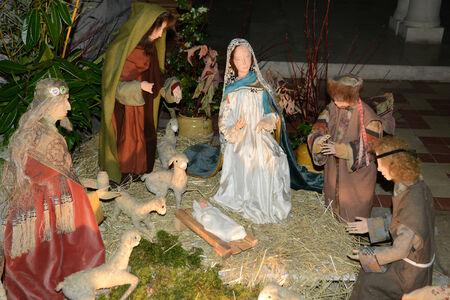 aux: Picardie, nativity scene in Saint Jean aux Bois church Stock Photo