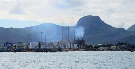 industrie: Africa, the area of Port Louis in Mauritius