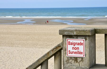 plage: France, the picturesque city of Stella Plage in  Nord Pas de Calais Stock Photo
