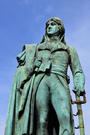 versailles: Ile de France, statue of Hoche in the picturesque city of Versailles