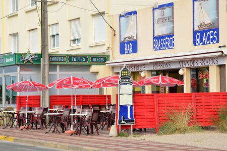 nord: France, restaurant in the city of Stella Plage in  Nord Pas de Calais