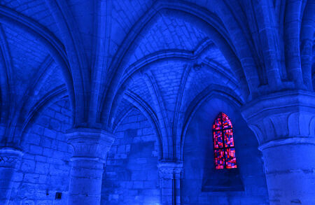 aux: France, chapter house in the church of Saint Jean aux Bois in Picardie Editorial