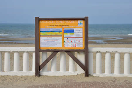 plage: France, the picturesque city of Stella Plage in  Nord Pas de Calais Editorial