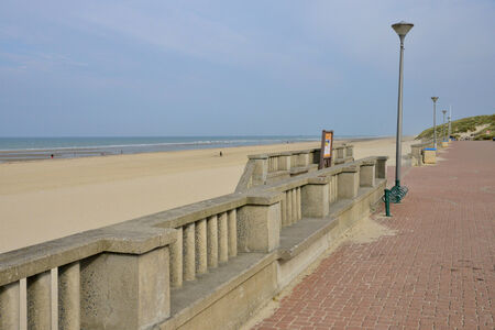 pas: France, the picturesque city of Stella Plage in  Nord Pas de Calais Stock Photo