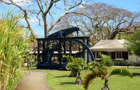 mauritius: Africa, sugar adventure museum of Pamplemousses in Mauritius Editorial