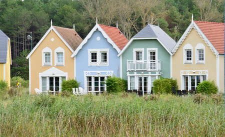 plage: France,  picturesque holiday village of Fort Mahon Plage in Somme