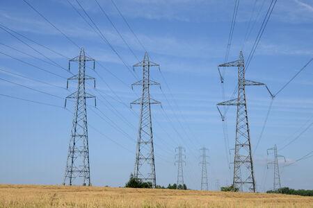 industrie: Ile de France, electric line village of  Sagy in val d oise