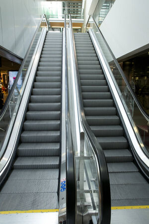 charles de gaulle: ile de France, escalator in Charles de Gaulle airport