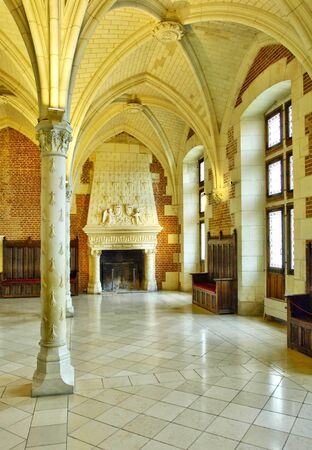 touraine: France, the council room in the Amboise castle