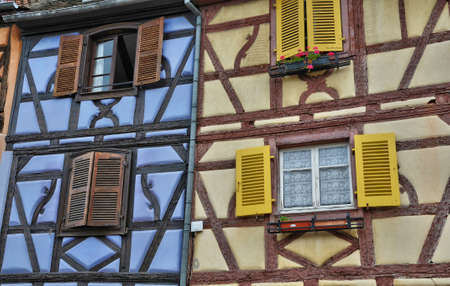 alsace: France, picturesque old house in Colmar in Alsace