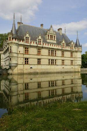 renaissance: France, the renaissance castle of Azay le Rideau in Touraine