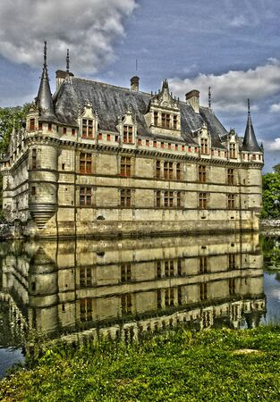 et: France, the renaissance castle of Azay le Rideau in Touraine