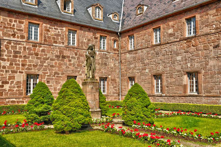 alsace: France, the Sainte Odile monastery in Ottrott in Alsace