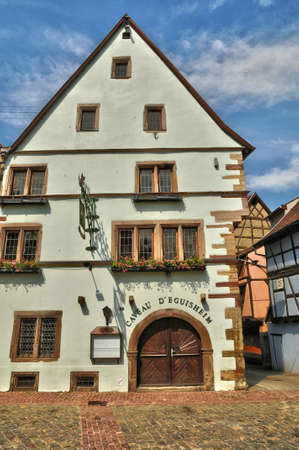 alsace: France, Alsace, the picturesque old old village of Eguisheim Editorial