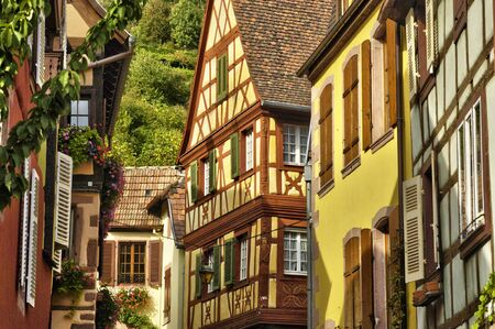 alsace: France, the picturesque village of Kaysersberg in Alsace