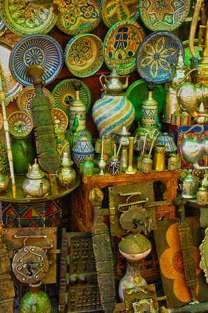 antique shop: Morocco, old objects in an antique shop in Marrakesh