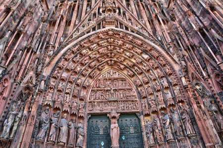 strasbourg: France, the cathedral of Strasbourg in Alsace
