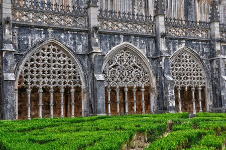 historische: het historische klooster van Batalha in Portugal Stockfoto
