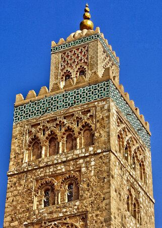 marrakesh: Morocco, the mosque of Koutoubia in Marrakesh