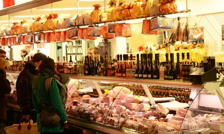 versailles: Ile de France,  pork butcher market of Versailles Editorial