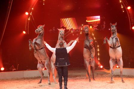de': Ile de France, circus in Les Mureaux Editorial