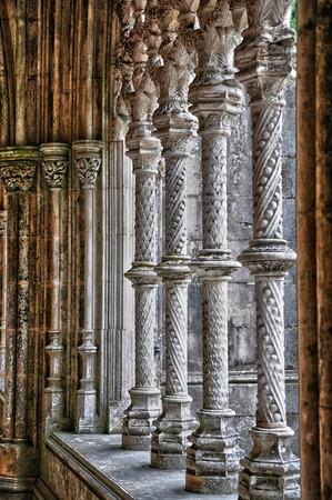 historische: De historische klooster van Batalha in Portugal