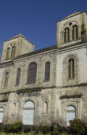 pierre: France, the cathedral of Saint Pierre in Martinique Stock Photo
