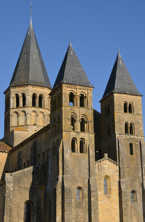 bourgogne: Bourgogne, the picturesque basilica of Paray le Monial Stock Photo