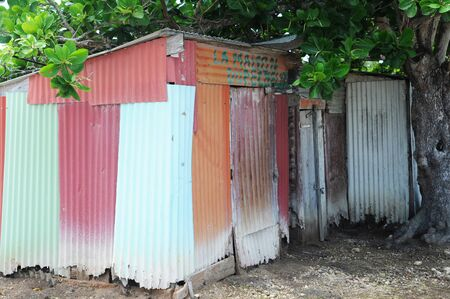guadeloupe: France, fisherman hut in Petit Canal in Guadeloupe
