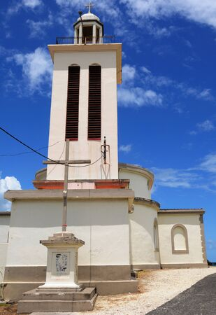 petit: France, the church of Petit Canal in Guadeloupe Stock Photo