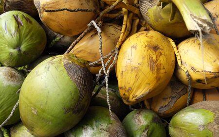 anne: France, coconuts at the Sainte Anne market in Martinique Stock Photo
