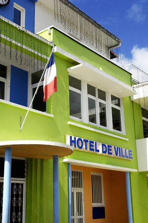 luce: France, the city hall of Sainte Luce in Martinique Stock Photo