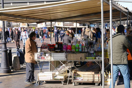 grocery trade: Ile de France, the picturesque market of Versailles