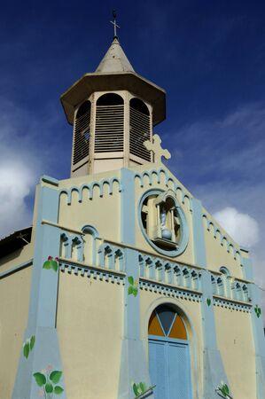 martinique: France, the picturesque church of Riviere Pilote in Martinique Stock Photo