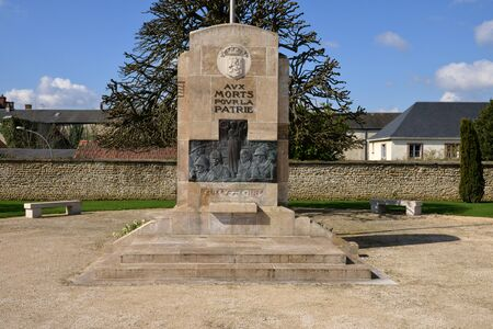 sully: France, the war memorial of Sully sur Loire in Loiret Editorial