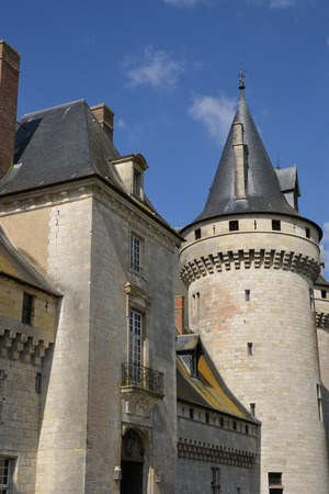 sully: France, the picturesque castle of Sully sur Loire in Loiret Editorial