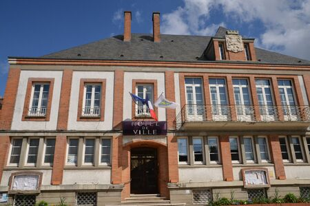 sully: France, the picturesque city hall of Sully sur Loire in Loiret Editorial