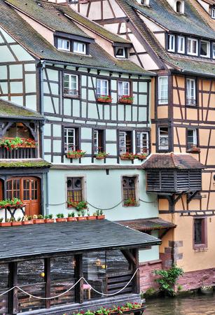 strasbourg: old house in the district of La Petite France in Strasbourg