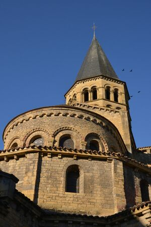 le: Bourgogne, the picturesque basilica of Paray le Monial Stock Photo