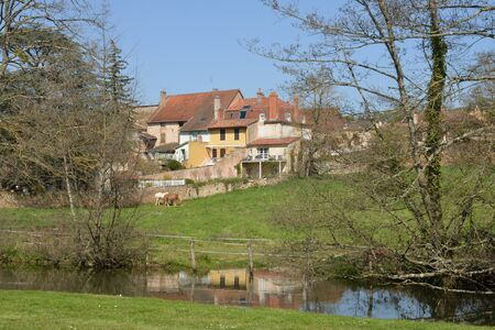 et: France, the picturesque village of  Cormatin in Saone et Loire Stock Photo