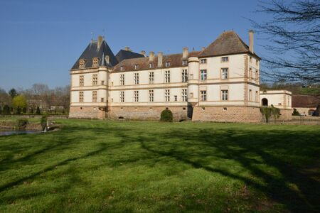 bourgogne: France, the picturesque castle of Cormatin in Saone et Loire Editorial