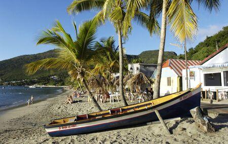 Frankrijk, landschap van Les Anses d Arlet, Grande Anse in Martinique Stockfoto