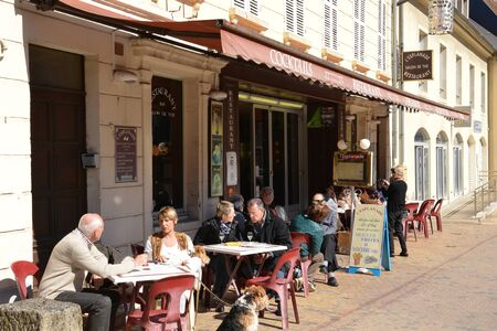 val: France, the picturesque city of Sancerre in Cher Editorial