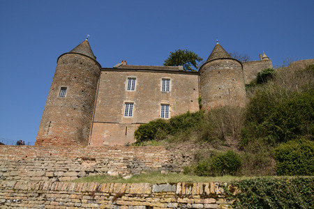 bourgogne: France, the picturesque castle of Brancion in saone et loire